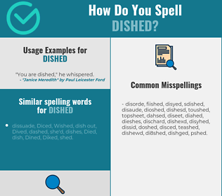 Correct spelling for dished