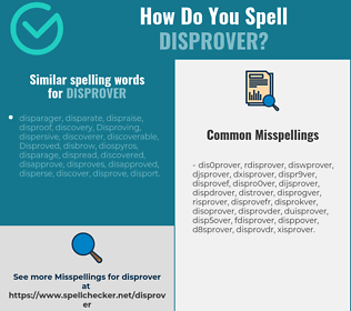 Correct spelling for disprover