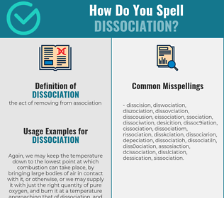 Correct spelling for dissociation