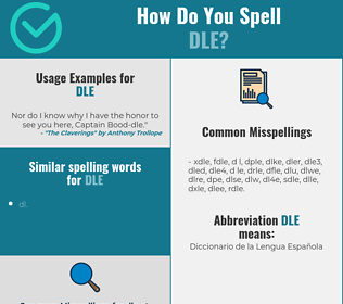 Correct spelling for dle