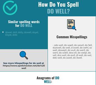 Correct spelling for do well