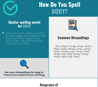 Correct spelling for dogy