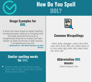 Correct spelling for dol