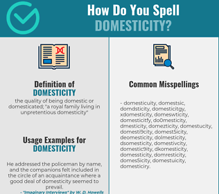 Correct spelling for domesticity