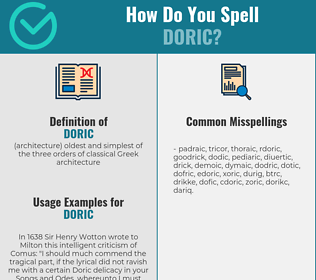 Correct spelling for doric