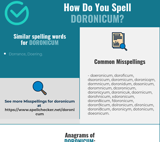 Correct spelling for doronicum