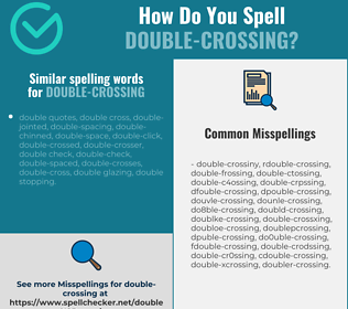 Correct spelling for double-crossing
