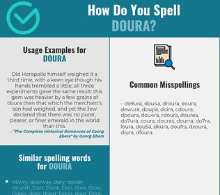 Correct spelling for doura