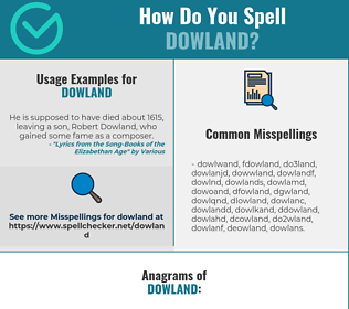 Correct spelling for dowland