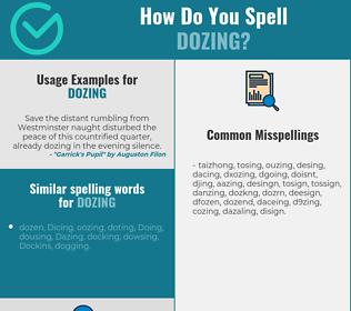 Correct spelling for dozing