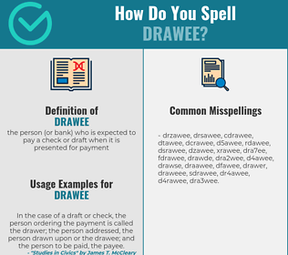 Correct spelling for drawee