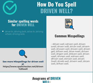 Correct spelling for driven well