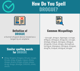 Correct spelling for drogue