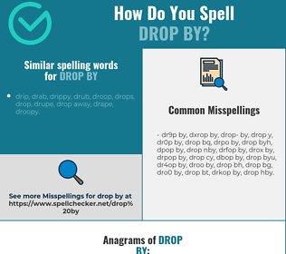Correct spelling for drop by