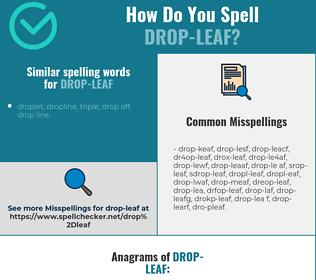 Correct spelling for drop-leaf