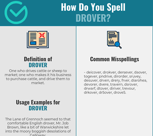 Correct spelling for drover