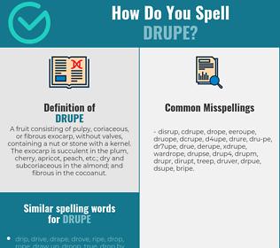 Correct spelling for drupe