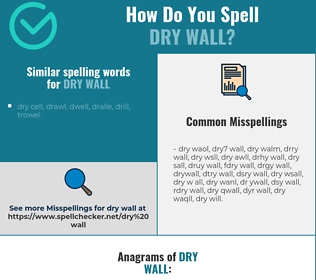 Correct spelling for dry wall