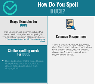 Correct spelling for duce
