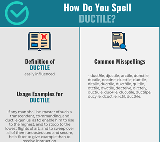 Correct spelling for ductile