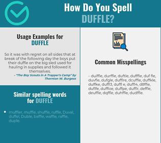 Correct spelling for duffle