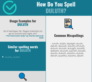 Correct spelling for duluth