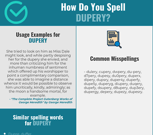 Correct spelling for dupery