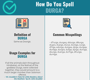 Correct spelling for durga