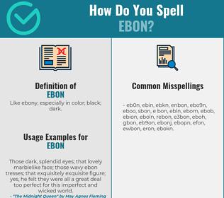 Correct spelling for ebon