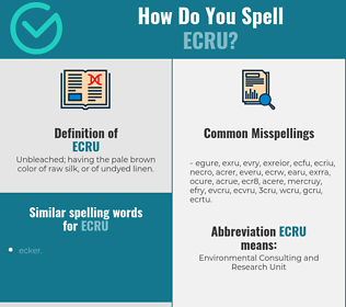 Correct spelling for ecru