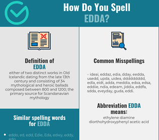 Correct spelling for edda