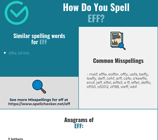 Correct spelling for eff