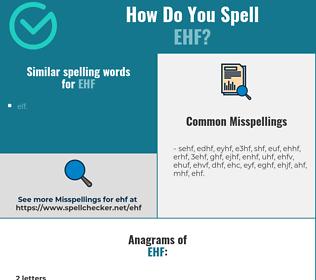 Correct spelling for ehf