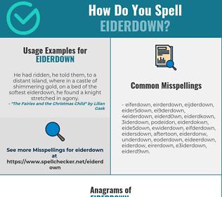 Correct spelling for eiderdown