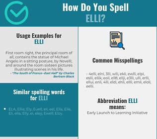 Correct spelling for elli