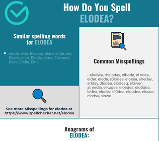 Correct spelling for elodea