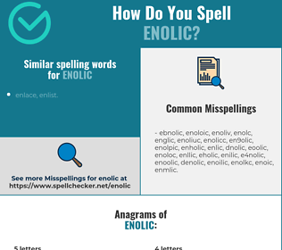 Correct spelling for enolic