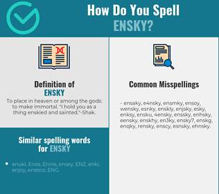 Correct spelling for ensky