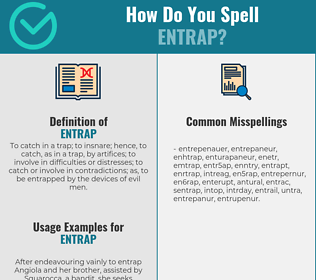 Correct spelling for entrap