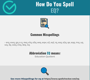 Correct spelling for eq
