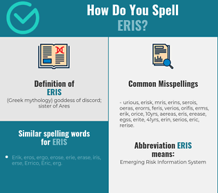 Correct spelling for eris