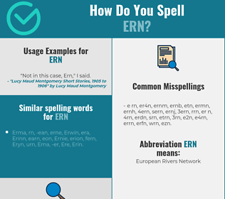 Correct spelling for ern