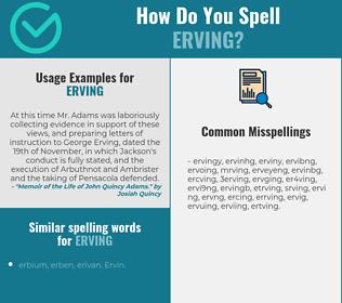 Correct spelling for erving