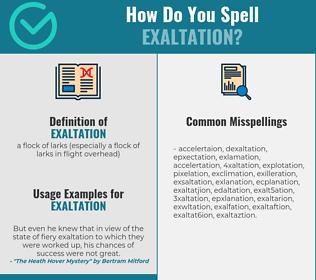 Correct spelling for exaltation