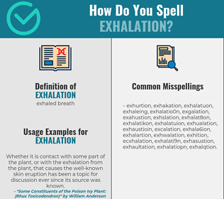 Correct spelling for exhalation