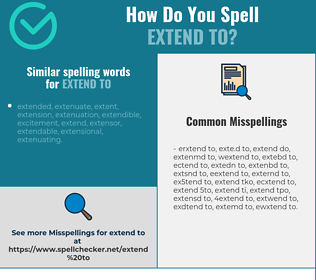 Correct spelling for extend to