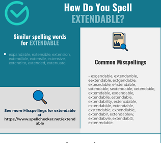 Correct spelling for extendable