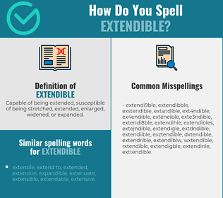 Correct spelling for extendible
