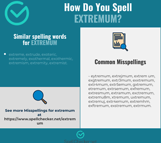 Correct spelling for extremum