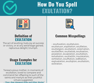 Correct spelling for exultation